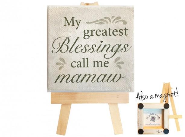 Mamaw mini canvas magnet. Mamaw. Mini canvas art. Mamaw mini canvas. Grandchildren. Gift for grandma.