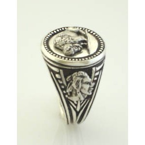 American Buffalo sterling silver signet ringg