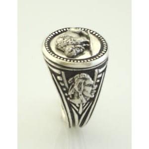 American Buffalo sterling silver signet ringg