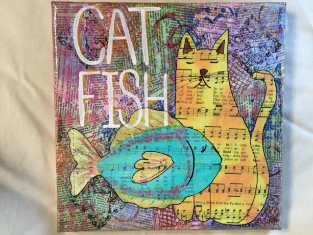 Mixed media catfish