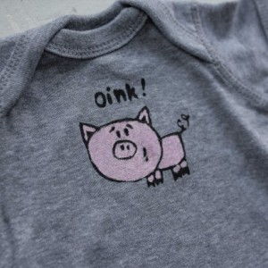 Oink Little Piggy Original Design, Onesie or T-Shirt