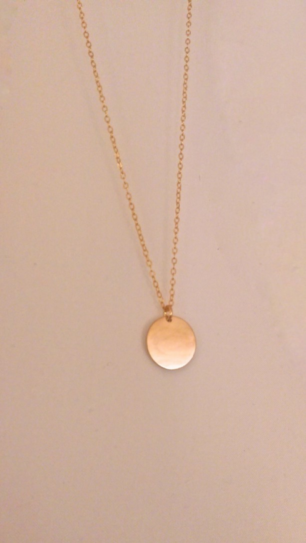 ruby dainty small necklace item disc floating dots designs gold discs simple theresa lane mink and