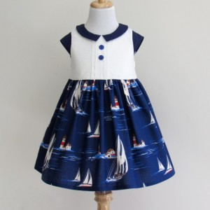 CORINNA- Girl Nautical Dress