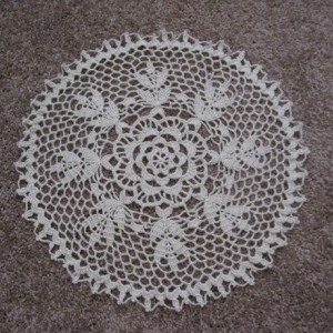 Broadway Doily Handmade Tan Centerpiece Table Decor