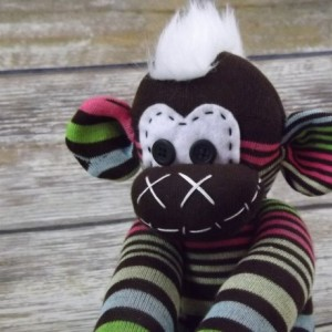Sock monkey : Molly ~ The original handmade plush animal made by Chiki Monkeys
