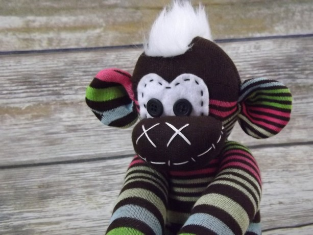 Sock monkey : Molly ~ The original handmade plush animal made by Chiki Monkeys