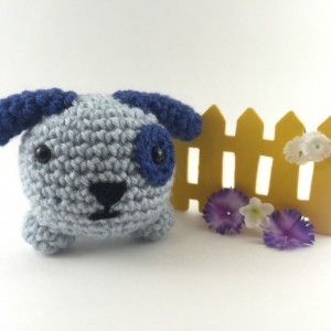Mini amigurumi dog, amigurumi dog, crochet dog, tiny dog, kawaii, small dog, dog plush, dog plushie, under 15, blue dog, mini animal