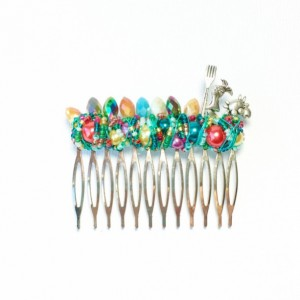 Large Colorful Mermaid, Fork, and Crab Princess Comb