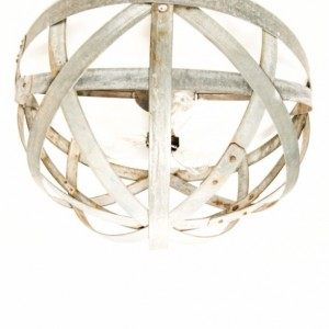 ATOM Collection - Orbis - Wine Barrel Ring Flush Mount Chandelier / Handmade from reclaimed California wine barrel rings - 100% Recycled!