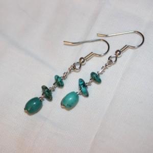Turquoise Earrings, Wire Wrapped Earrings, Southwestern Earrings, Southwestern Jewelry