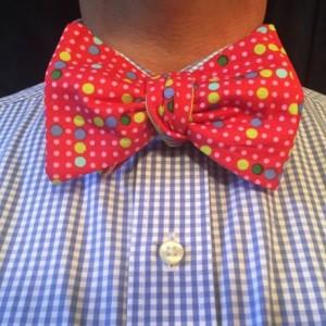 Red polka dot bow tie, bow ties for men, self tie bow ties, pink bow tie, reversible bow ties, wedding accessories, groomsmen ties, magnet