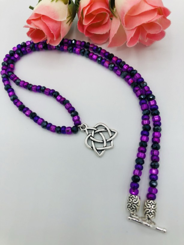 """18 1/2"""" Celtic Beaded Necklace"""