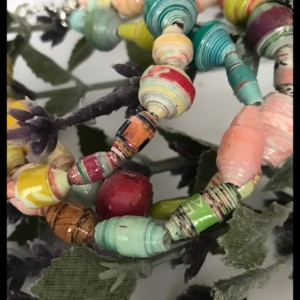 Hippiechic paperbead wrap