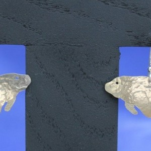 Sterling Silver Manatee Earrings