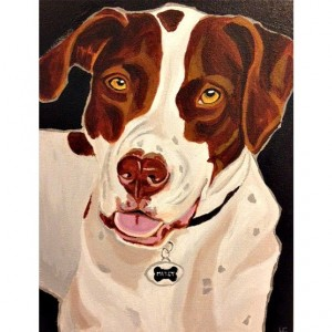 "Mitzy - Custom Dog Portrait 11"" x 14"""