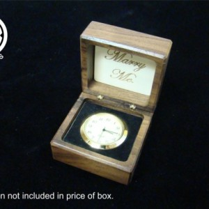 Inlaid Claddagh ring box.  Free shipping and engraving.  RB62