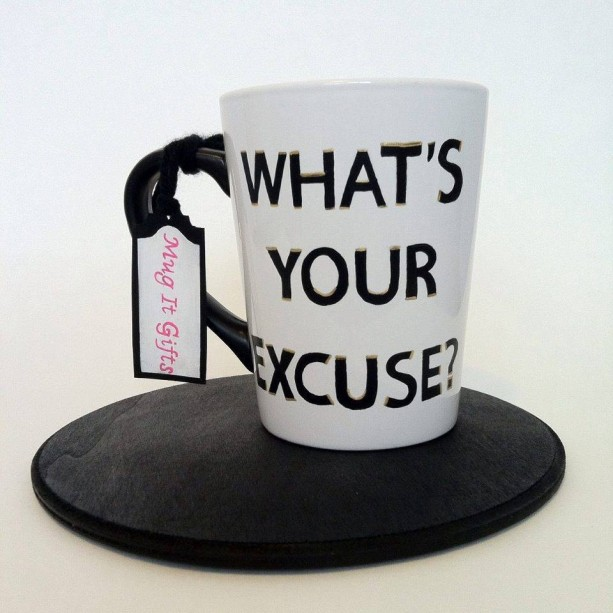 What's Your Excuse Shameless Lip Gallagher Hand Painted 14 oz Ceramic Coffee Mug Cup