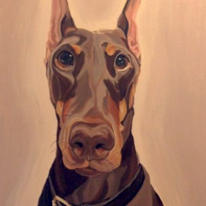 "Twist - Custom Pet Portrait 18"" x 24"" x 1.5"""