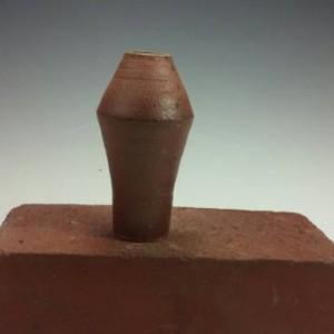 Soda Fired Bottle - Pottery Bud Vase