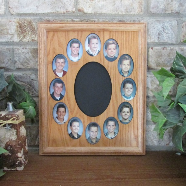School Years Collage Picture Frame K 12 Graduation Oval 11x14 Aftcra