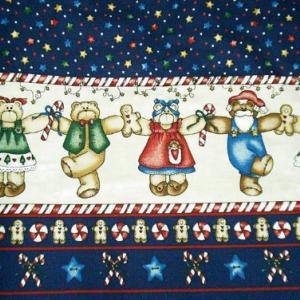 NEW Handmade VHTF Daisy Kingdom Peppermint Teddy Christmas Border Dress Custom Sz 12M-14Yrs