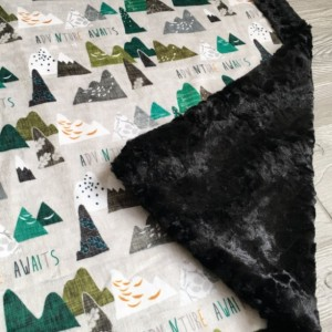 Minky Baby Blanket All Minky Adventure Mountain Baby Toddler Childrens