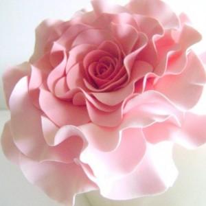 Coral Pink Rose Cake Topper Wedding Cake Topper Flower Cake Design Blush Rose Cake Decor Cake Topper Flower Clay Flower Cake Topper