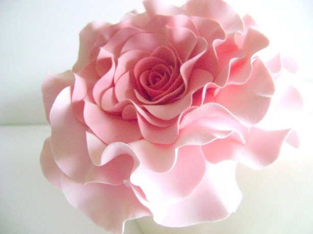 Coral Pink Rose Cake Topper Wedding Blush Rose Cake Flower Aftcra