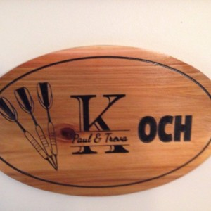 Oval Cedar personalized custom sign - Family Name, Business, Pictures