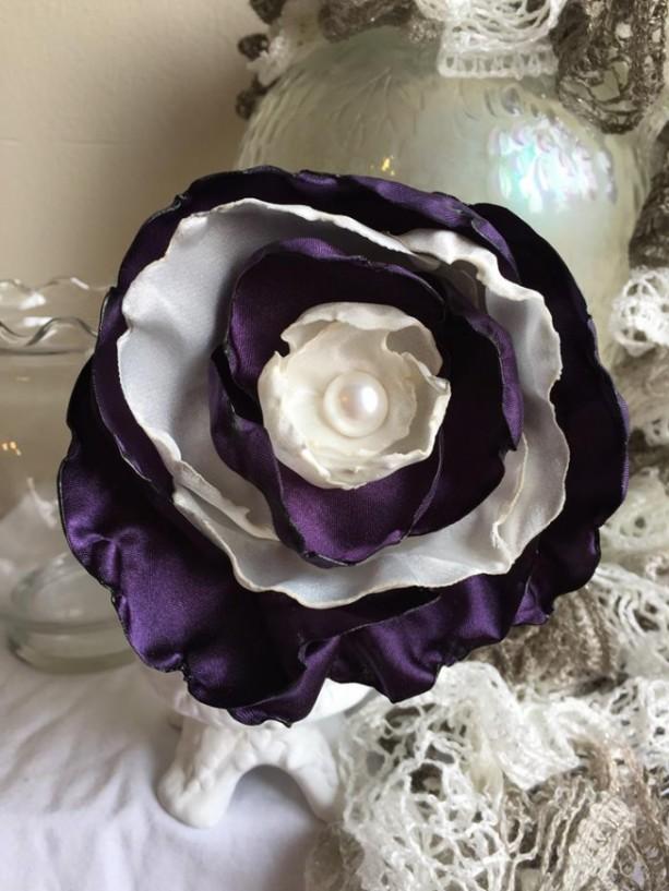 Asymmetrical Floral Statement Pin