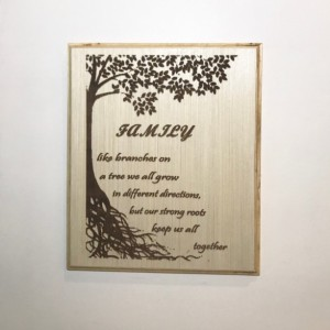 Engraved, Golden Gate Bridge, Eiffel Tower, Mother Teresa, Family Tree, Wall Decor, Art, Personalized Engraving, Wooden signs, Plaque gift,
