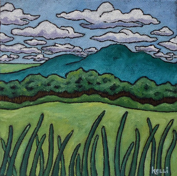 """Square Landscape #18"" original painting"