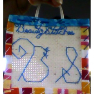 BeautyStitches Coaster Designs: Initials (bordered)
