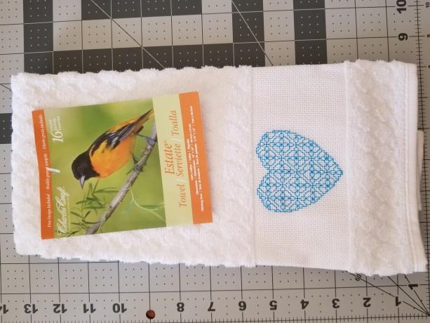 Cross-stitch hand towel