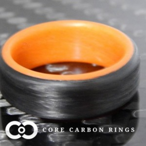 Carbon Fiber Orange Glow Ring