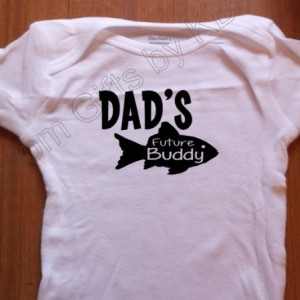 Daddy's Future Fishin Buddy Custom Onesie, Custom Baby onesie, Daddy onesie, Fishing buddy, outdoors onesie