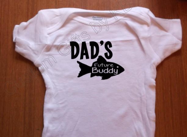 Daddy's Future Fishin Buddy Custom Onesie, Custom Baby onesie, Daddy onesie, Fishing buddy, outdoors onesie