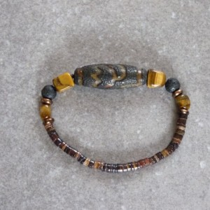 Mystery Dzi Agate Bracelet