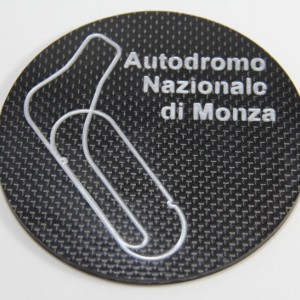 Two Formula One Carbon Fiber Drink Coasters