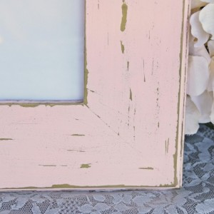 Distressed pink frame, Light peony pink & vintage gold frame, Wooden 8x10 picture frame, Shabby cottage chic decor, Nursery decor
