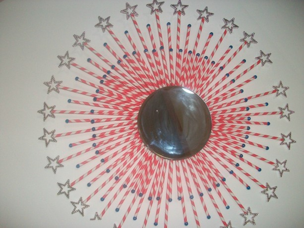 Creative Red and White Star Burst