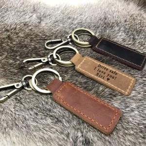 Personalized Leather Keychain, Customized Keychain, Custom Leather Key chain, coordinates key chain longitude latitude keychain, Best Gift