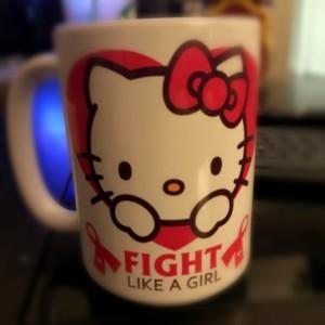 Custom Made Hello Kitty Cancer Survivor 15oz Coffee Mug