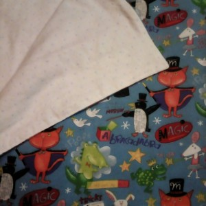 Baby Blanket Whimsical Magic Tricks Double Sided Flannel