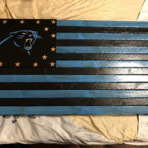 Panthers Wooden Flag