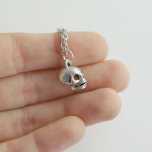 Tiny Skull Necklace