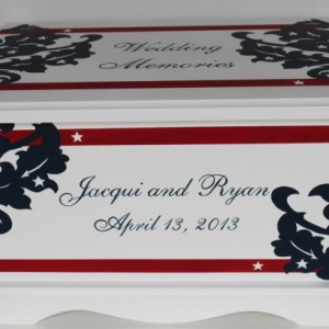 Star Spangled Wedding Keepsake Chest Box personalized wedding gift