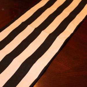 TABLE RUNNER - Black White stripes