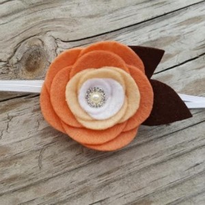 Autumn Peach Felt Headband