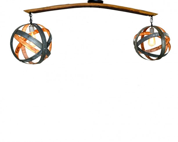 ATOM Collection - Dualize - Wine Barrel Chandelier / made from CA retired wine barrels - 100% Recycled!